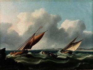 Dutch fishing boats off the coast