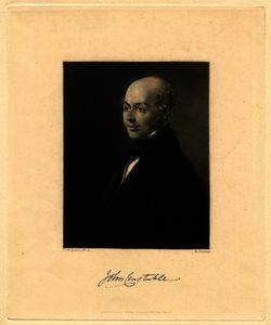 Portrait of John Constable mezzotint