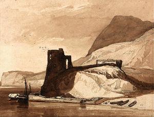 Coast Scene with a Castle