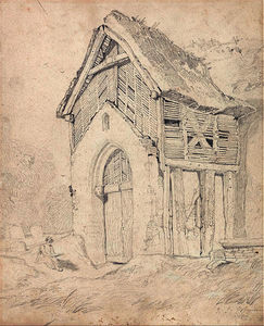 Porch and Belfry of Thurgarton Church, Norfolk