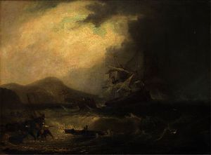 Salvaging the wreck off the scottish coast
