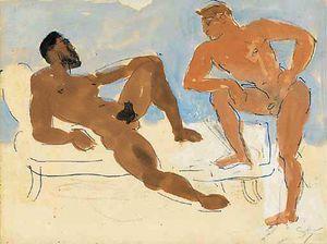 Nudes conversing