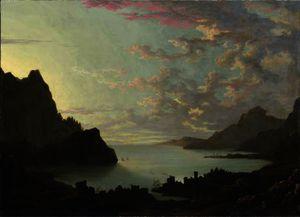 A bay at dusk
