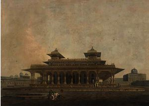 Part of the palace in the fort of allahabad