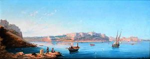View of the bighi royal naval hospital from valletta