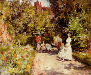 High tea in the walled garden