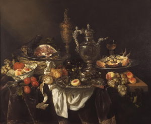 Banquet (about (99.5 x 120.5) (The Hague, the Royal Gallery Mauritshuis) (1655))