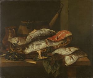 Still life with Fish (1650) (74 x 87) (Amsterdam, The State Museum)