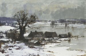 Snow and Flood Water, the Waveney Valley