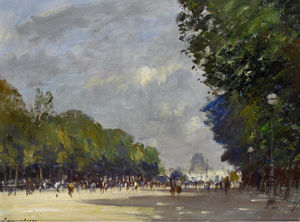 The centre walk, tuileries gardens, paris