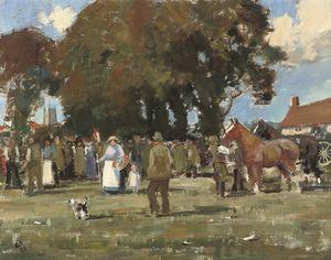 The horse fair, (1928)