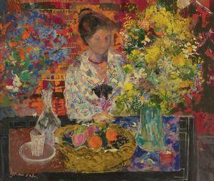 Interiror with Flowers, (1967)