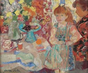 Mother and Child by the Table, (1967)
