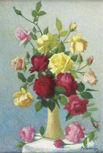 Vase of Roses, (1924)