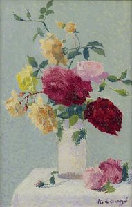 Vase with Roses, (1921)
