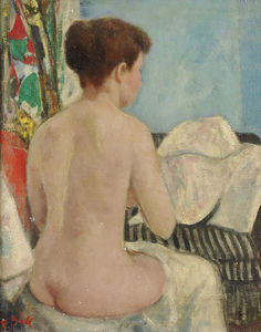 Eugenie Nude from Back, Studio at Villa Brume, - (8b)