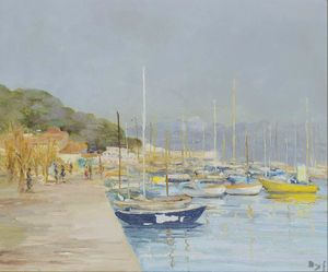 Sailing Boats in Provence at the Gulf of Juan, (1973)