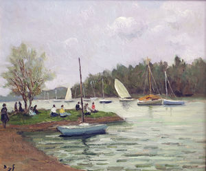The array river, brittany, (1950)