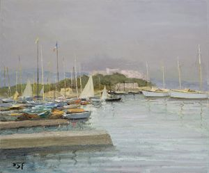 The Port of Antibes, (1958)