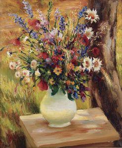 The Vase with Wild Flowers, (1950)