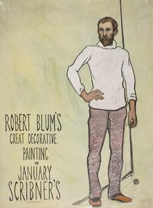 'Robert Blum's Great Decorative Painting in January Scribner's', (43 x 32 CM) (1896)