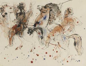 Horse riders, (1960)