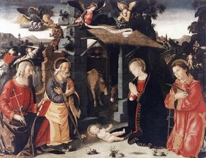 Nativity with Sts Lawrence and Andrew