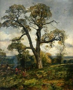 Woodcutters in cadzow forest