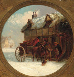 Delivering supplies in a winter landscape