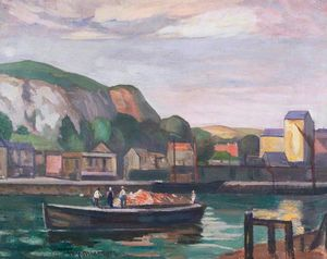 A quayside, boulogne, france