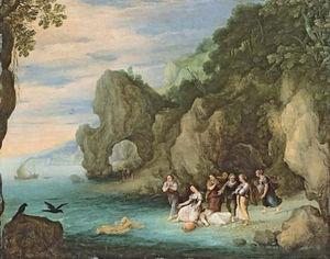 Hecuba discovering the body of Polydorus