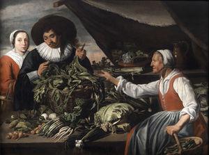 Old vegetable seller