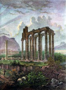 Ruins of Athens around (1870)