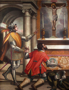 St. john gualbert and the killer of his brother before the crucifix of san miniato