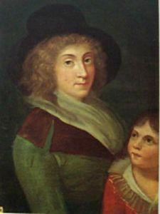 Ritratto di Giulia Beccaria e suo figlio Alessandro Manzoni bambino