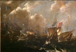 Naval Battle of Guetaria in (1638)
