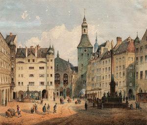 The Marienplatz in Munich
