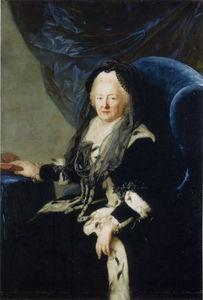 Queen Elisabeth Christine in Widow's Weeds