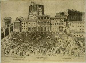 Estampa publicada por Antonio Lafreri, Mirror of the Roman magnificence.