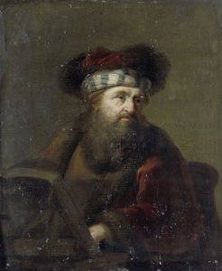 A man in oriental costume, known as 'The Rabbi'