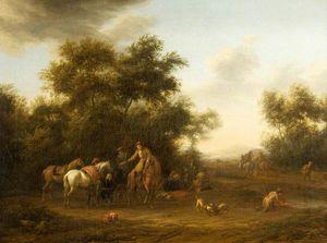 Horsemen Halted in a Wood
