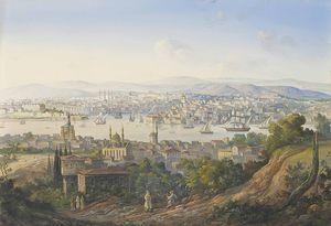 Turks overlooking Istanbul
