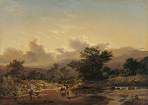 Landscape with Drove of Cows