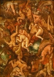 The damned being cast into hell