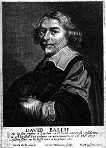 Porträt von David Bailly in der Cornelis de Bie Gulden Cabinet.