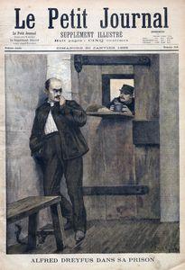 Alfred Dreyfus dans sa prison