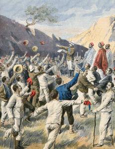 Freed Italian prisoners in Abyssinia