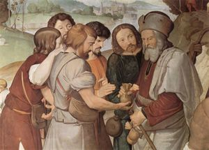 Frescoes of the Casa Bartholdy in Rome, the sale of Joseph (detail)