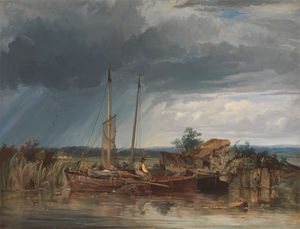 Two Fishing Boats on the Banks of Inland Waters