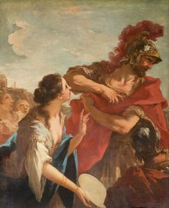 Jephthah Returning from Battle is Greeted by his Daughter